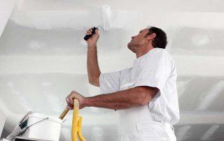 plafond schilderen of spuiten?